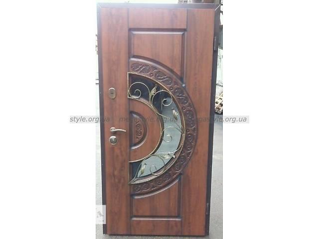 Двери входные тм двери мегастиль resiste optima витраж ковка винорит патина акция- объявление о продаже  в Сумах