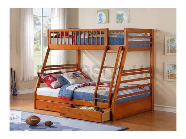 Двухъярусная трьохспальне кровать семейного типа Юлия массив дерева- объявление о продаже  в Киеве