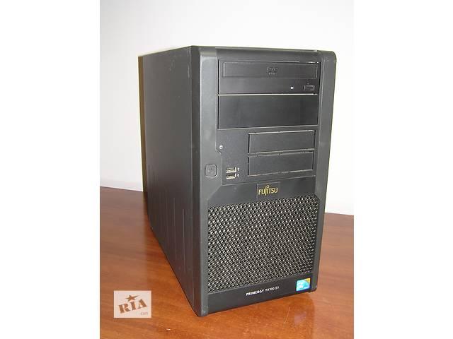 купить бу Двух ядерный компьютер Fujitsu Primergy TX100 S1 Core 2 Duo e7400 2.8Ghz 2Gb DDR2 250G DVD ATI ОПТ/Розница в Киеве
