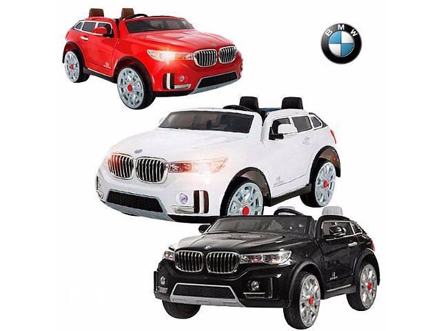 продам Двухместный детский электромобиль Джип M 2768 EBR-2 BMW X7 (черный цвет) бу в Львове