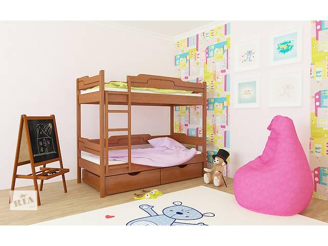 продам Двухярусная деревяная кровать Няша 80х190 бу в Львове