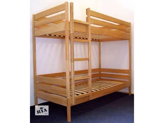 бу Двухъярусная кровать Дуэт от производителя с ортопедическими матрасами и выдвижными ящиками под кроватью.! в Киеве