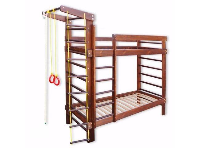 продам Двухъярусная кровать с шведской стенкой, спортивный уголок. спортивная кровать. Спортивный уголок, кровать, бу в Киеве