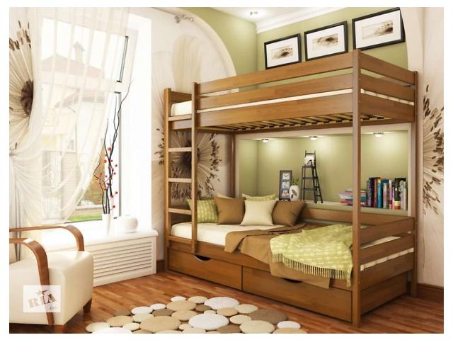 продам Двухярусная кровать(трансформер) Дует 2 массив дерева. В наличии бу в Киеве