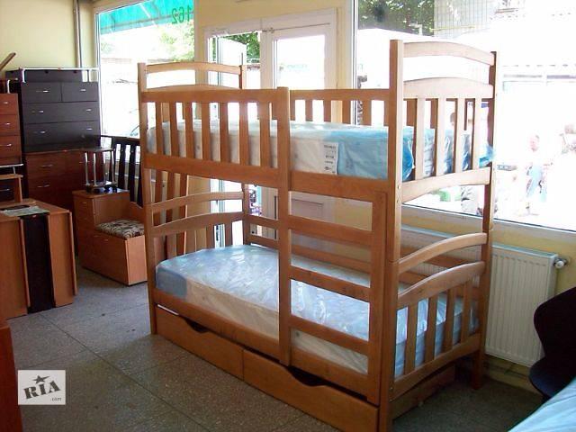 купить бу Двухъярусная кровать-трансформер Карина New Полулюкс с тремя съемными бортами в Днепре (Днепропетровск)