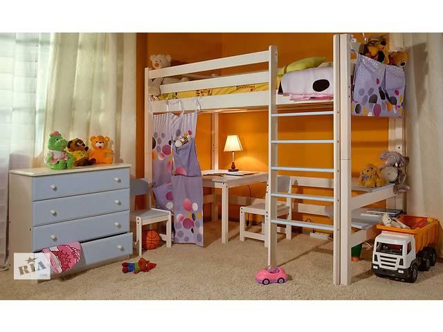 бу Кровать чердак из дерева от производителя децкой и подростковый  мебели в Киеве