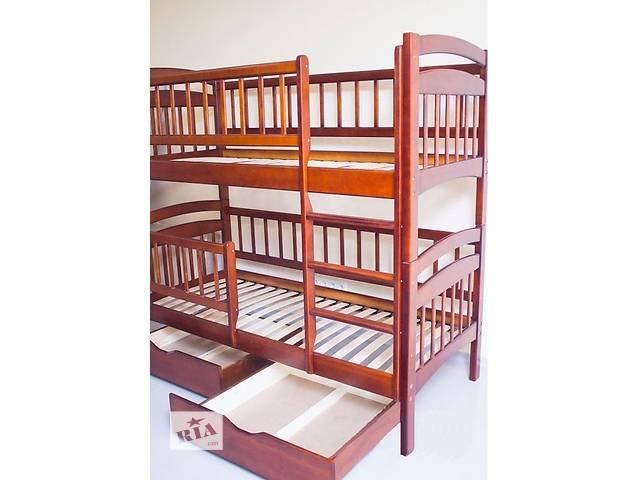 купить бу Двоярусне ліжко(трансформер) повна комплектація Каріна Люкс масив в Киеве