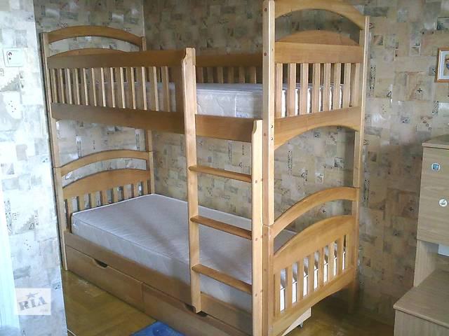 продам Двухъярусная кровать трансформер в комплекте с ящиками и с матрасами бу в Киеве