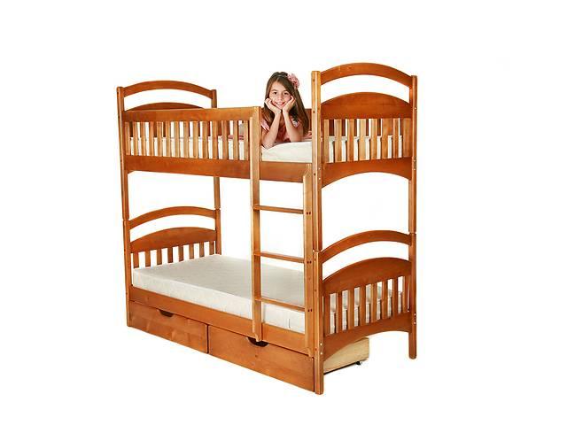 продам Двухъярусная кровать трансформер из натурального дерева ,напрямую от производителя с матрасами и с ящикам и в комплекте бу в Киеве