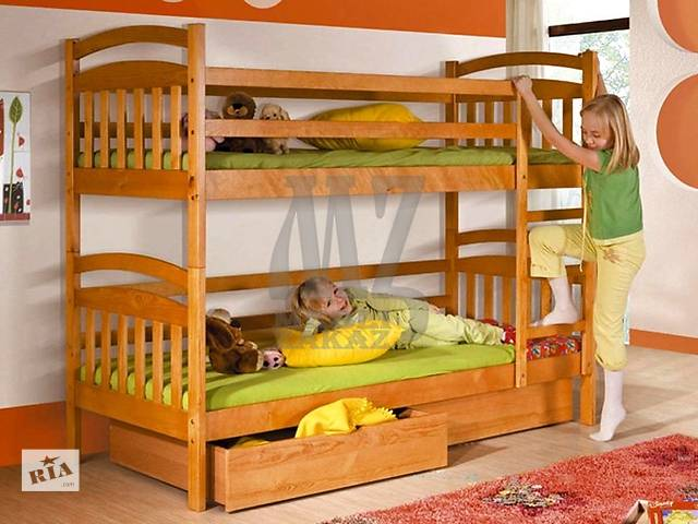 Двухъярусная кровать Иринка+ящики+двухсторонние матрасы+2 подушки в подарок*- объявление о продаже  в Киеве