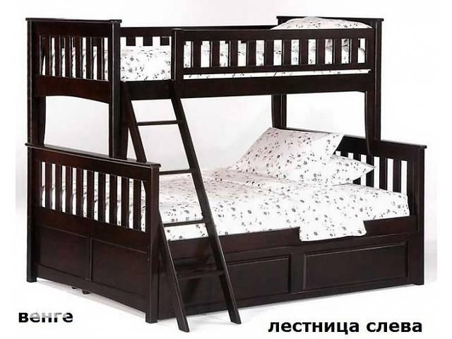 купить бу Кровать на три спальных места Жасмин люкс  двухьярусная в Киеве
