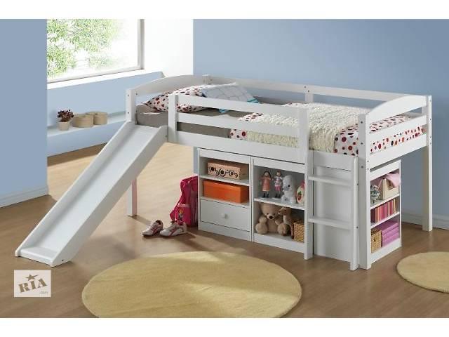 купить бу Zephyr : односпальная кровать - чердак с горкой и полочками, от фабрики мебели в Киеве
