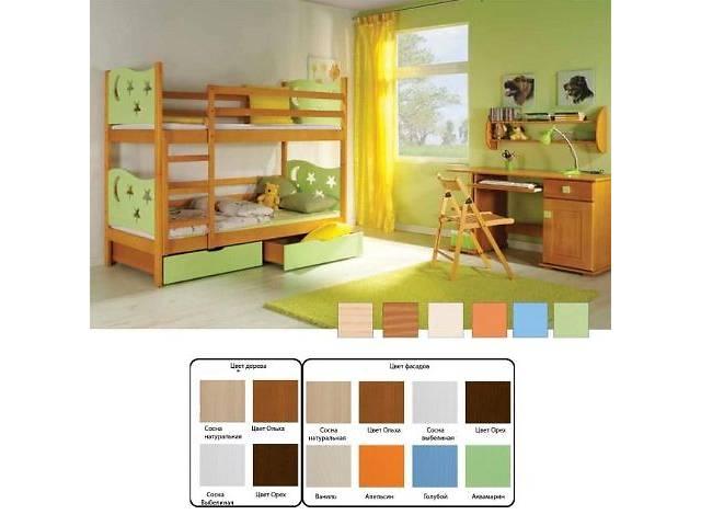 продам ЯРЕК: двухъярусная кровать+матрасы ЕММ - от производителя детской деревянной мебели! бу в Луцке