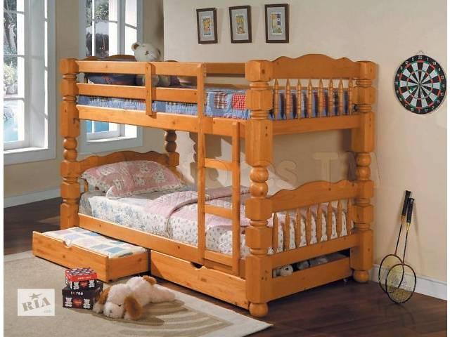 бу Чингиз двухъярусная кровать-трансформер, из настоящего дерева в Василькове