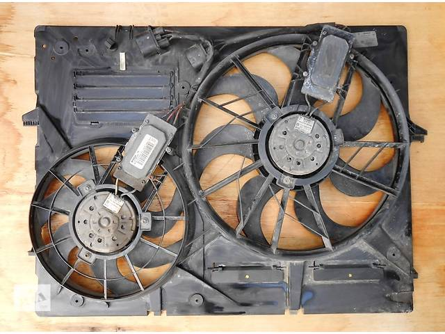 бу Диффузор с вентиляторами Porsche Cayenne Порше порш кайен кайен 7L0121203F (2003-2009) в Ровно