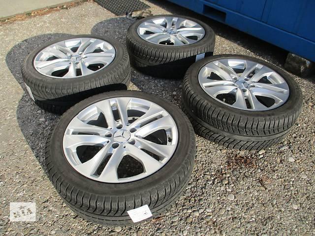 купить бу Диски Mercedes R17 5x112 ET47 7.5J с зимней резиной Michelin 225/45/R17 в Киеве