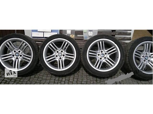 купить бу Диски колеса BMW 5 e60 e61 R18 89 стиль styling разноширокие 8j 9j,резина лето 245/40/R18 275/35/R18 в Луцке