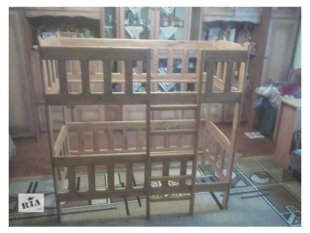 детская деревянная кроватка. кроватка двухярусная. также может раскладываться на две отдельные кроватки. очень удобное и компактное....- объявление о продаже  в Долине (Ивано-Франковской обл.)