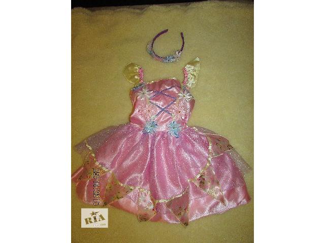 продам  детское  платье цветочки бабочки бу в Львове