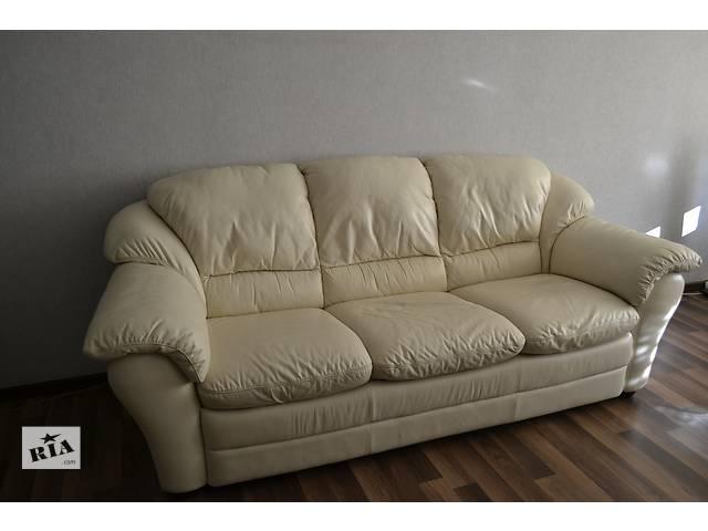 продам Диван-кровать и кресло-реклайнер ф-ка Italsofa (кожа) бу в Мариуполе