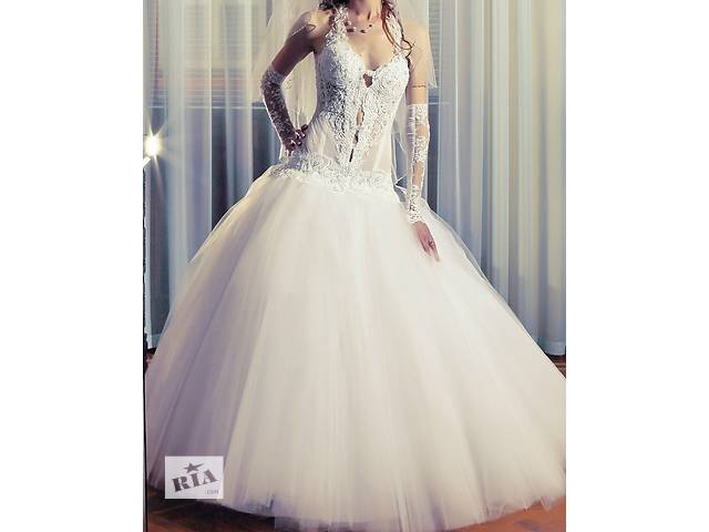 купить бу Дизайнерское свадебное платье. в Тернополе