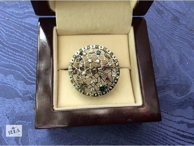 бу Дизайнерское кольцо с цветными бриллиантами в Одессе