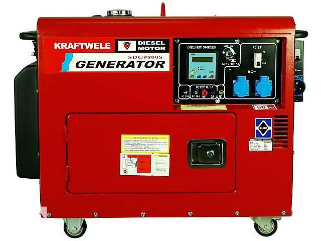 продам АКЦІЯ - Дизельний генератор KRAFTWELE SDG 9800S 9.8 кВт 1 фазний ДОСТАВКА бу в Зборове (Тернопольской обл.)