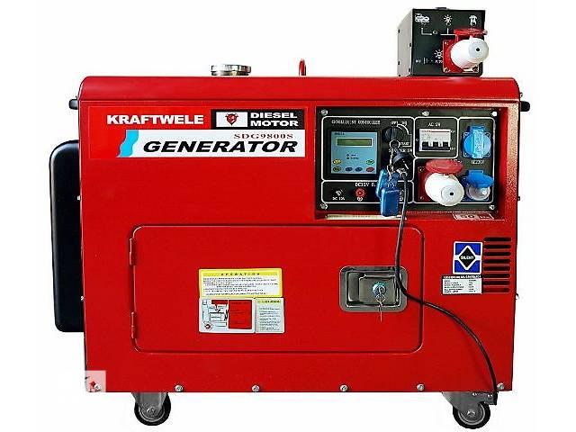 купить бу АКЦІЯ -Дизельний генератор KRAFTWELE SDG 9800S 9.8 кВт 3 фазний ДОСТАВКА в Зборове (Тернопольской обл.)