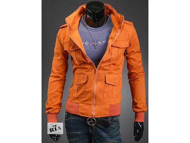 Джинсовая куртка оранжевого цвета- объявление о продаже  в Черкассах