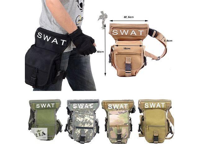 купить бу Поясная сумка с креплением на бедро Тактическая Военная Swat в Киеве