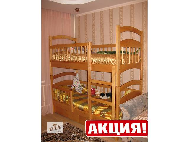 купить бу Усиленная кровать-трансформер, Карина Люкс, съемные заборы, двухъярусная (прямо от производителя), без переплат! в Киеве
