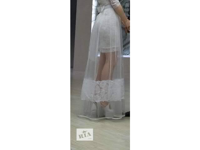купить бу Эксклюзивная белая юбка фатінова в Дрогобыче