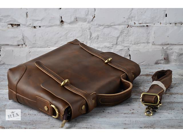 купить бу Эксклюзивная и стильная кожаная мужская сумка-портфель.Супер качество. в Киеве