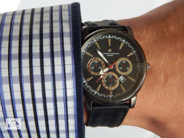 бу Элегантные мужские часы Vacheron Constantin - черный и серебристый циферблат в Харькове