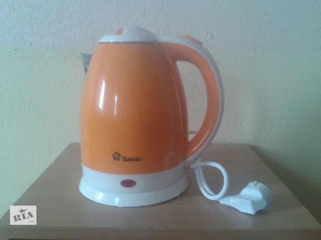 продам Электро чайник-термос Domotec DT 806 пластик+нержавейка бу в Харькове
