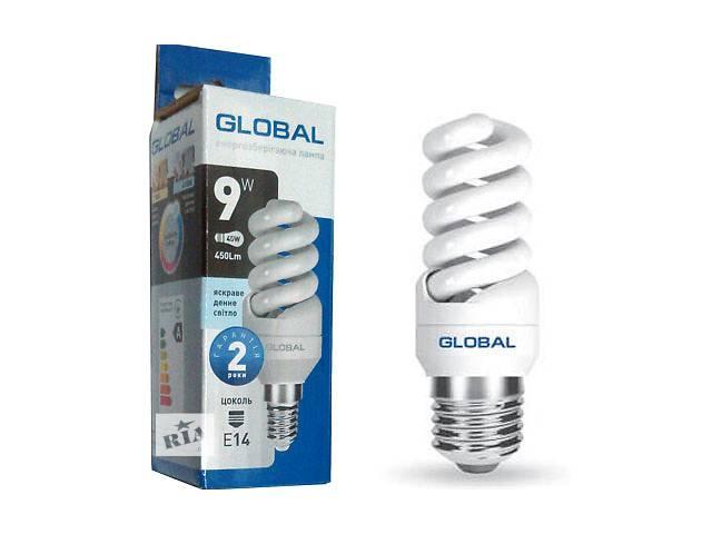 купить бу Энергосберигающая лампочка Global Spiral E27 9W 4100K в Днепре (Днепропетровске)