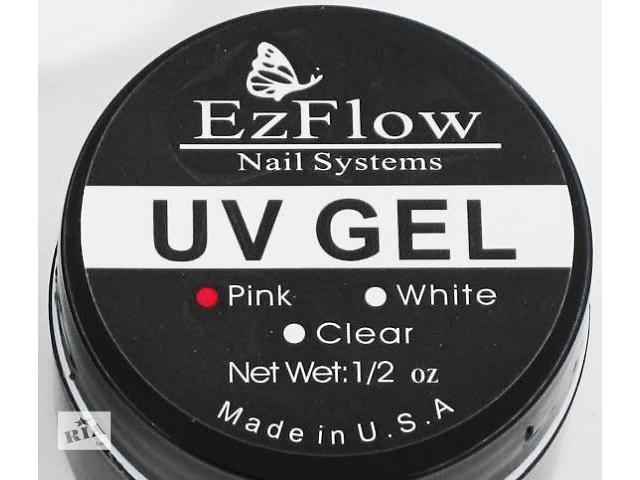 продам EzFlow УФ-гель, UV-gel, для наращивания ногтей, белый бу в Виннице