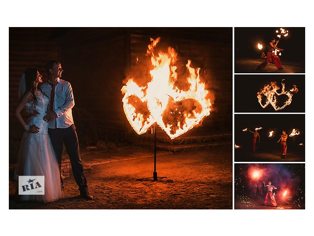 купить бу Фаер шоу + пиротехнический финал ! Зажигательный огненный дуэт ! в Черкассах