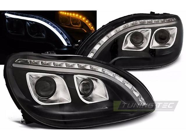 купить бу Фары передние тюнинг оптика Mercedes w220 в стиле w222 LPME97 в Луцке