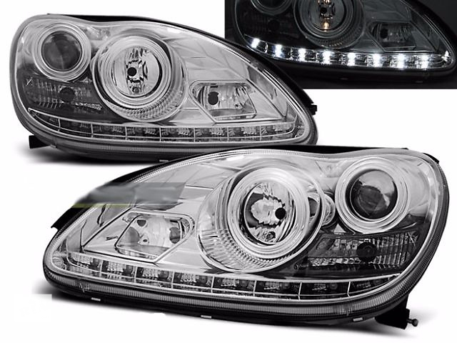 продам Фары передние тюнинг оптика Mercedes-Benz W220 (LPME51) Мерседес 220 бу в Луцке