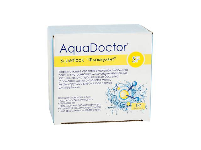 купить бу Флокулянт от мутности воды.AquaDoctor Superflock 1 кг. Бесплатная Доставка! в Днепре (Днепропетровск)