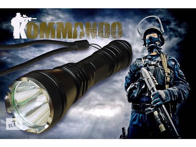 купить бу Фонарь Comando аналог Nitecore Fenix Skyray Convoy акк18650 ліхтар фонарік в Ивано-Франковске