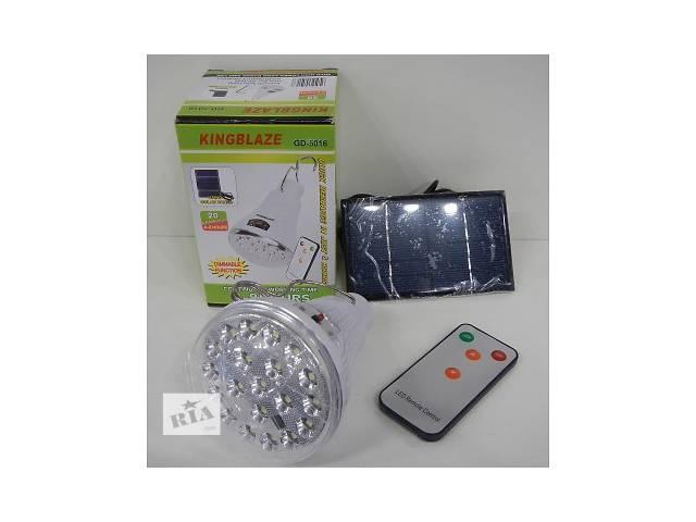 купить бу Фонарь LED Светильник Solar Led Light GD-5016 c ДУ + солнечная панель в Одессе