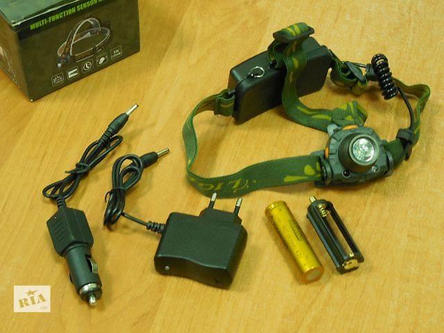 бу Фонарь налобный Cree на 3*ААА мини пальчиках на аккумулятор 18650 фонарик на голову фара в Ивано-Франковске