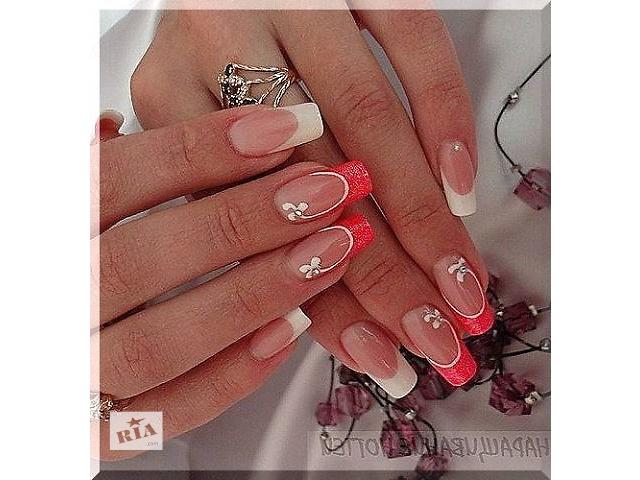 Френч рыжий на ногтях 2017 новинки