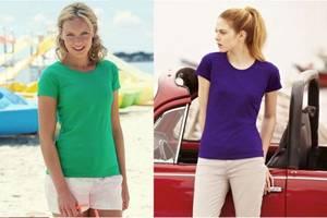 Новые Женские футболки, майки и топы Fruit of the Loom