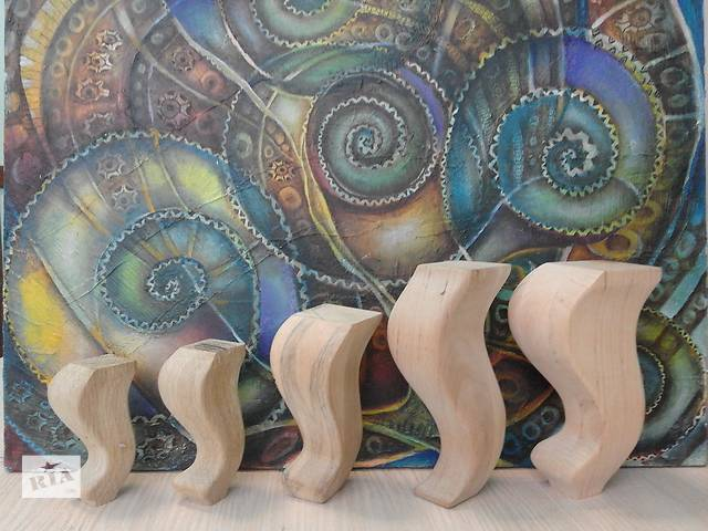 Фигурная деревянная ножка для тумбы, комода, шкафа, кровати, дивана, кресла, трюмо- объявление о продаже  в Киеве
