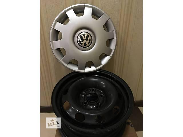 продам Фирменные стальные ДИСКИ R14 с КОЛПАКАМИ Volkswagen бу в Киеве