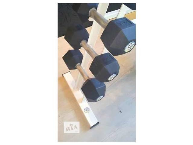 купить бу Гантельный ряд от 1 до 10 кг + стойка, сталь в Днепре (Днепропетровске)