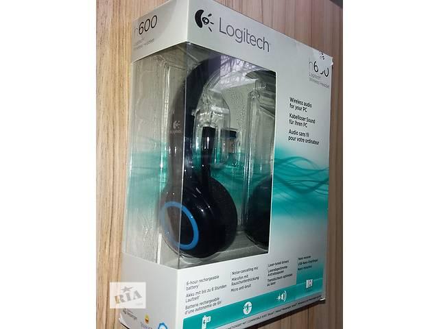 купить бу Гарнитура беспроводная  наушники Logitech Wireless Headset H600 в упаковке в Киеве